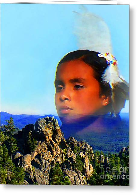 My Sacred Black Hills Greeting Card by Terril Heilman