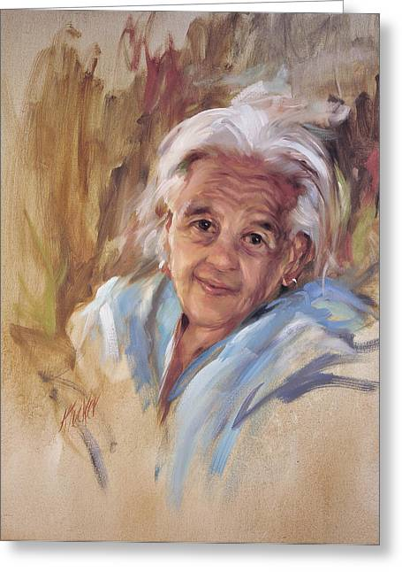 Gray Hair Greeting Cards - My Secret Gypsy Lady Greeting Card by Katherine Tucker