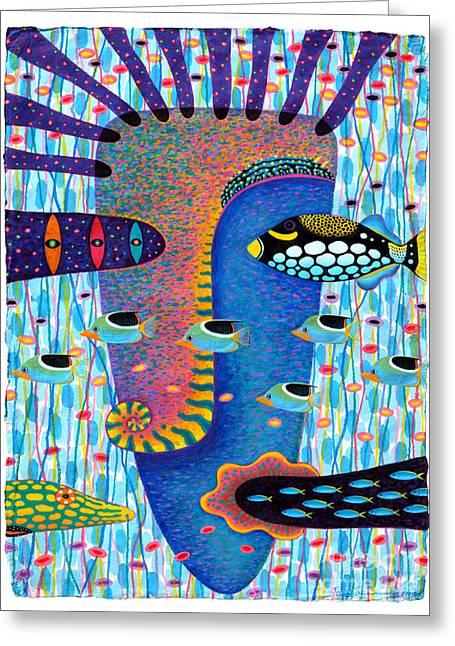 Marine Mollusc Paintings Greeting Cards - My Self 1 Greeting Card by Opas Chotiphantawanon