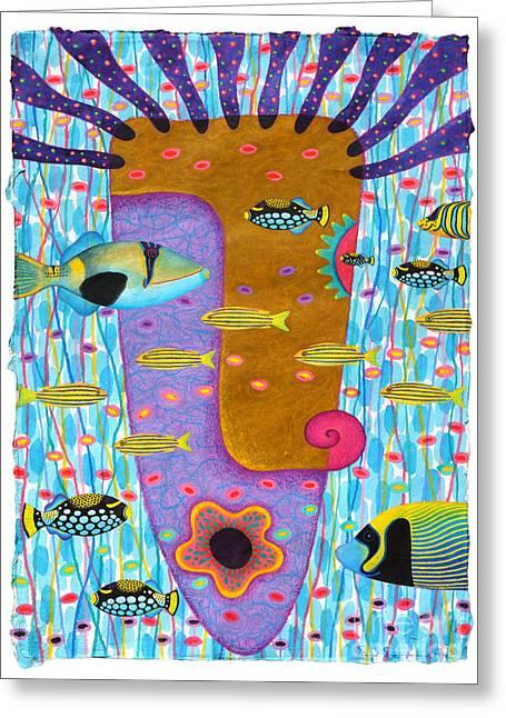 Seastar Paintings Greeting Cards - My Self  2 Greeting Card by Opas Chotiphantawanon