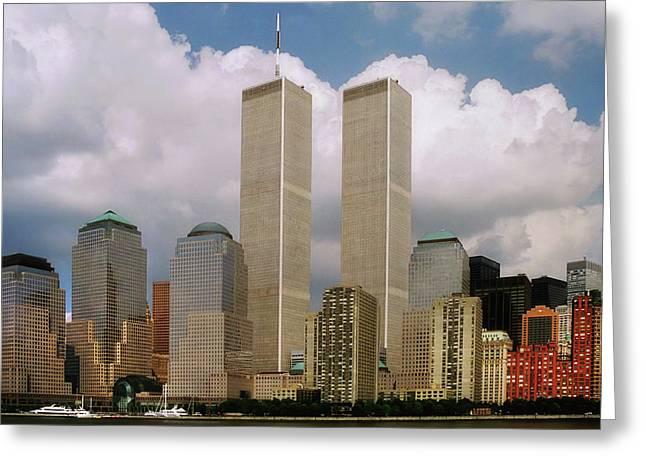 Twin Towers Nyc Greeting Cards - My Skyline Greeting Card by Joann Vitali