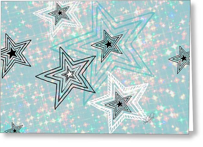 Stars Tapestries - Textiles Greeting Cards - My Stars Greeting Card by Sharon Johnston