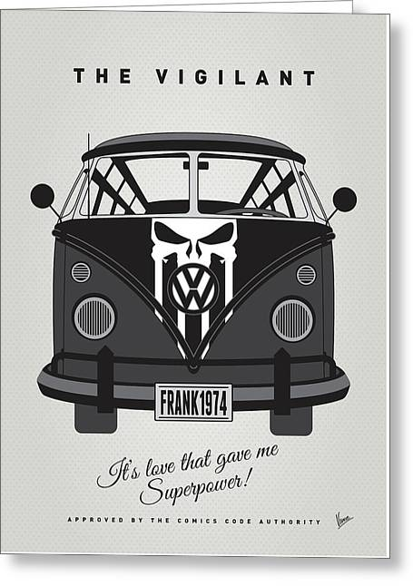My Superhero-vw-t1-punisher Greeting Card by Chungkong Art