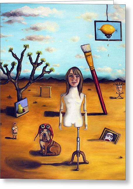 Leah Greeting Cards - My Surreal Life Greeting Card by Leah Saulnier The Painting Maniac