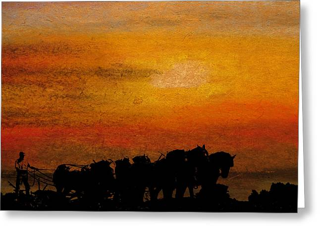 Indiana Scenes Mixed Media Greeting Cards - My Team Greeting Card by R Kyllo