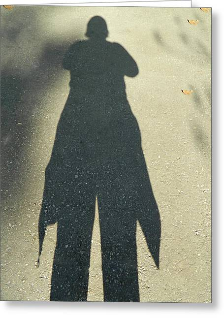 My Ten Foot Shadow 2 Greeting Card by Emmy Marie Vickers