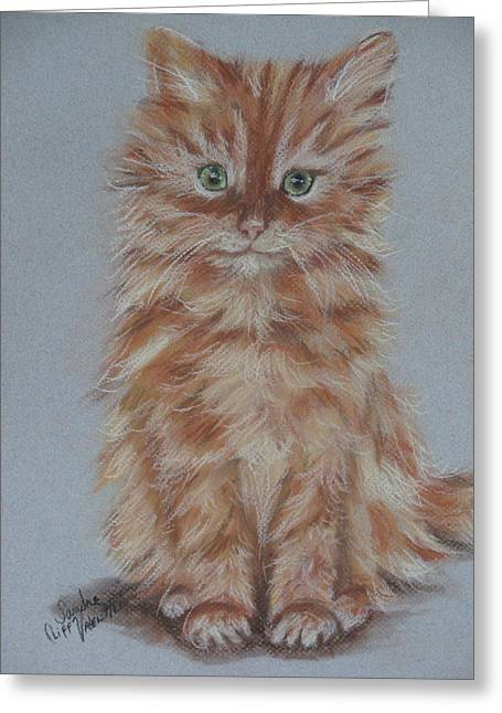 Cute Kitten Pastels Greeting Cards - My Tia Baby Greeting Card by Sandra Valentini