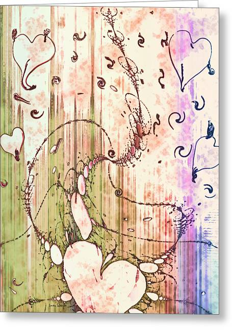 Fractal Greeting Cards Greeting Cards - My Valentine Greeting Card by Linda Sannuti