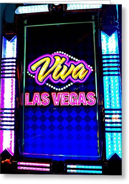 Viva Las Vegas Greeting Cards - My Vegas Elvis 5 Greeting Card by Randall Weidner