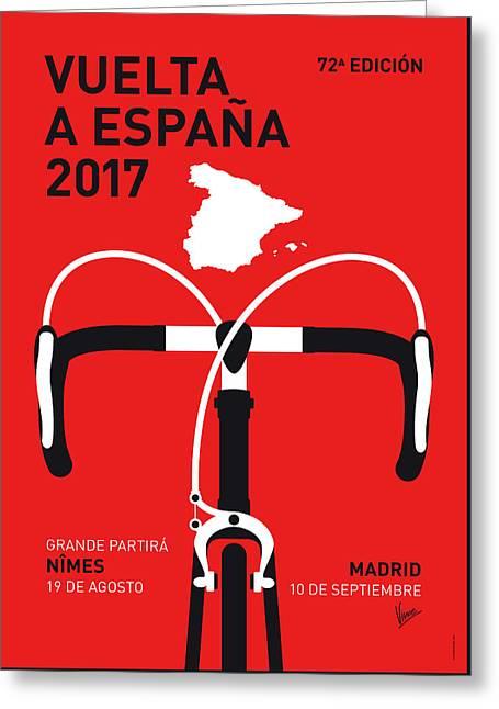 My Vuelta A Espana Minimal Poster 2017 Greeting Card by Chungkong Art