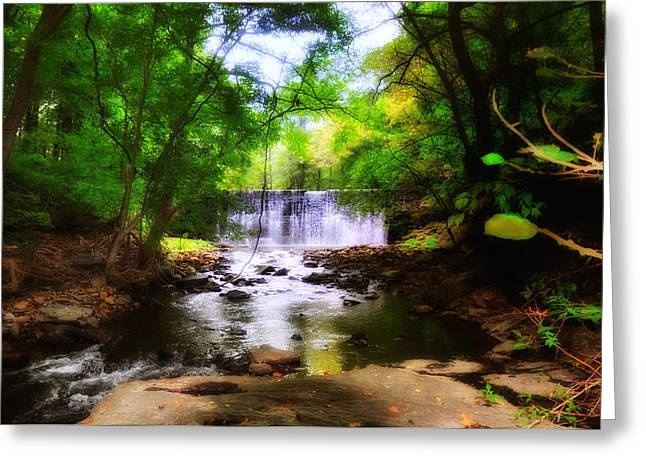 Water Fall Digital Art Greeting Cards - My Waterfall Greeting Card by Bill Cannon