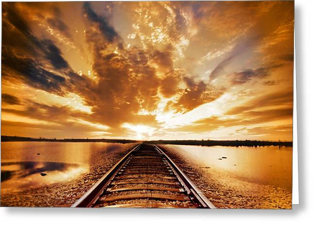 Path Greeting Cards - My Way Greeting Card by Photodream Art