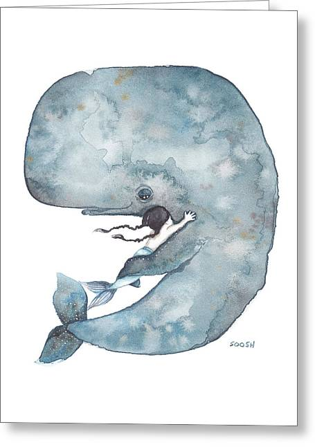 My Whale Greeting Card by Soosh