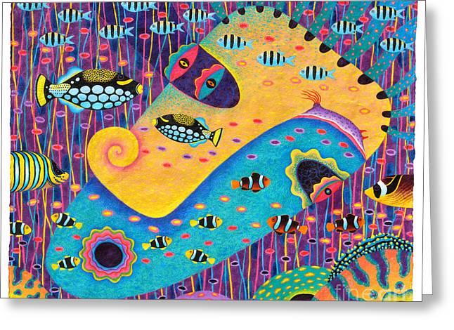 Marine Mollusc Paintings Greeting Cards - My Wife 1 Greeting Card by Opas Chotiphantawanon