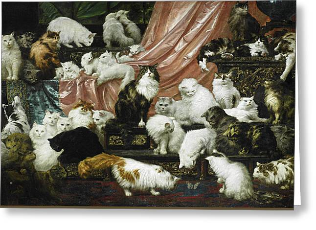 My Wife's Lovers Greeting Card by Carl Kahler
