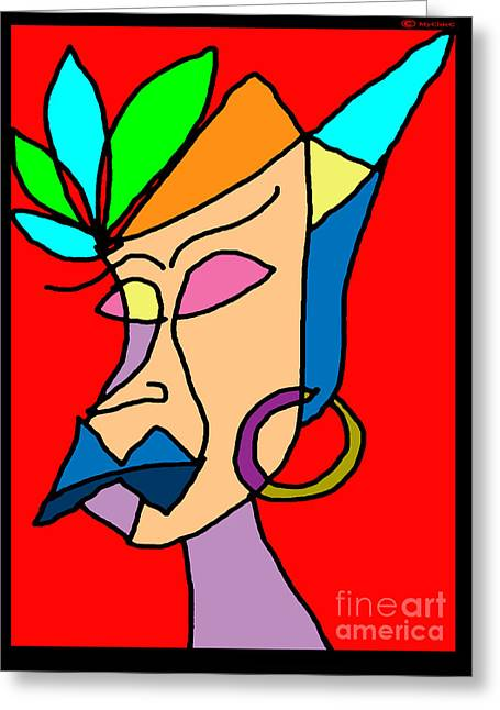 Daughter Gift Greeting Cards - My Woman Greeting Card by MyChicC Art