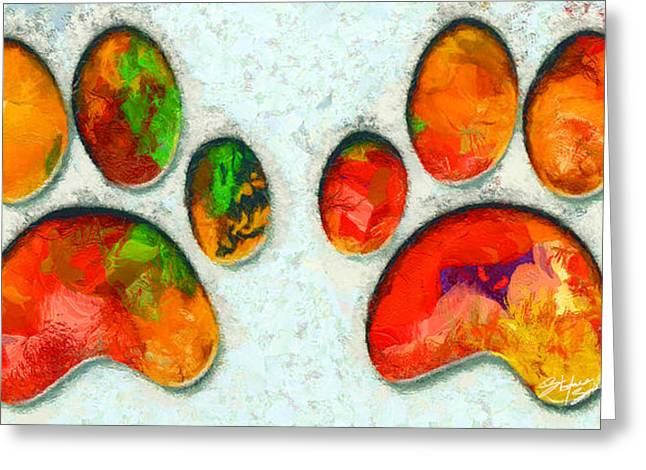 My Cat Paw Greeting Card by Stefano Senise