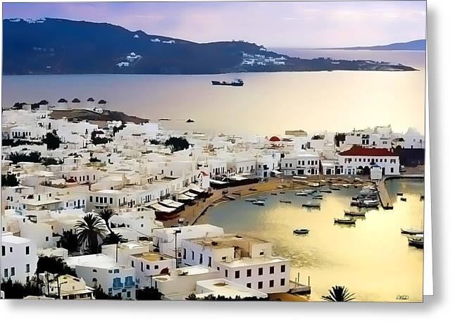 Mykonos Greece Greeting Card by Dean Wittle