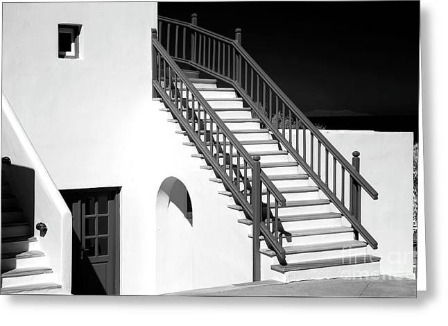 Mykonos Style Infrared Greeting Card by John Rizzuto