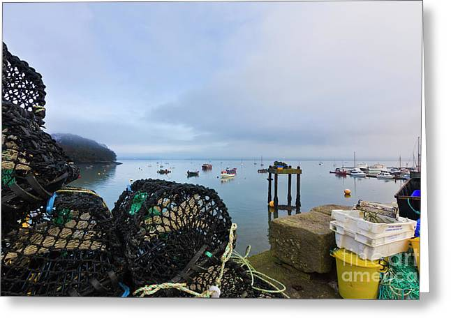 Mylor, A Working Harbour Greeting Card by Terri Waters