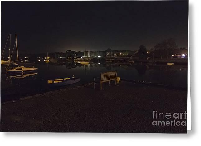 Mylor Creek At Night Greeting Card by Terri Waters