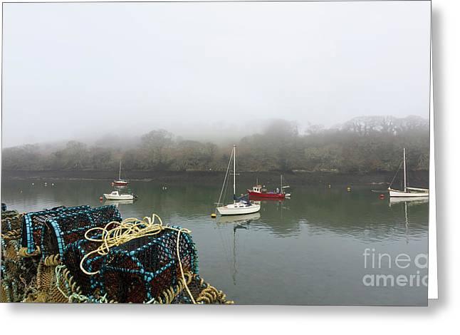 Mylor Harbourside Greeting Card by Terri Waters