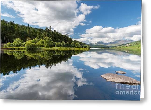 Canoe Greeting Cards - Mymbyr Lake Greeting Card by Adrian Evans