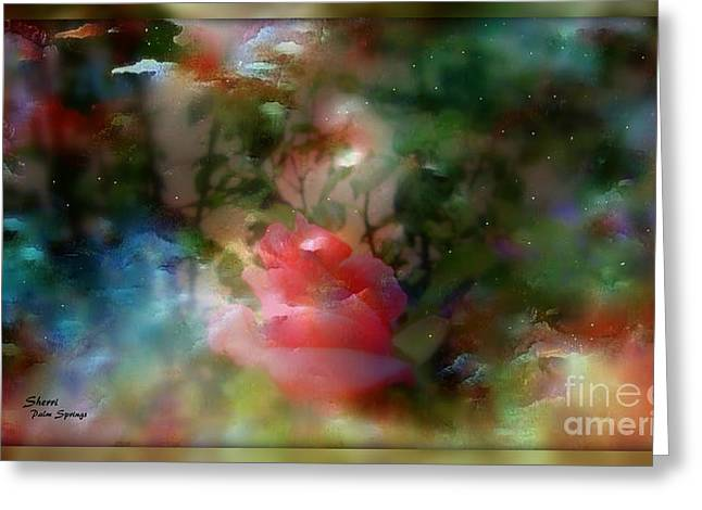 Greeting Cards - Mysterious Garden Greeting Card by Sherri  Of Palm Springs