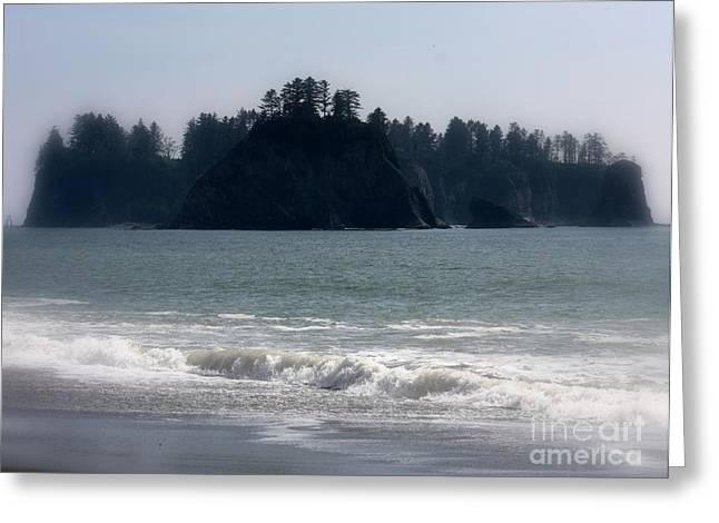 Seaside Digital Greeting Cards - Mysterious Island Greeting Card by Carol Groenen