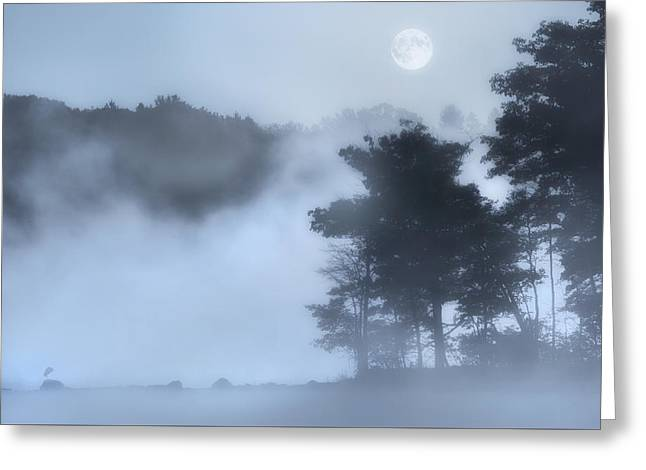 Mysterious Moon Greeting Card by Bill Wakeley