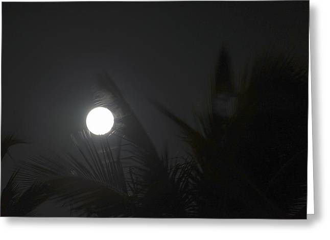 Moonrise Greeting Cards - Mysterious Moon Greeting Card by LeeAnn White