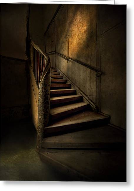 Empty Inside Greeting Cards - Mysterious staircase Greeting Card by Jaroslaw Blaminsky