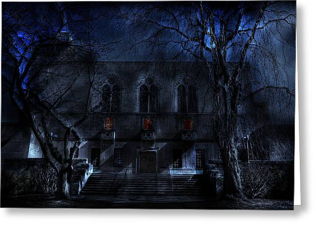 Hallows Eve Greeting Cards - Mysterious Zembo Shrine Greeting Card by Shelley Neff