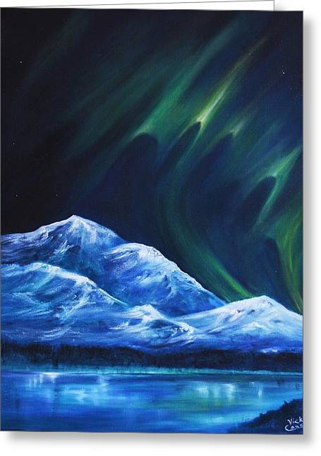 Winter Night Greeting Cards - Mysteriously Haunting Greeting Card by Vicki Caucutt