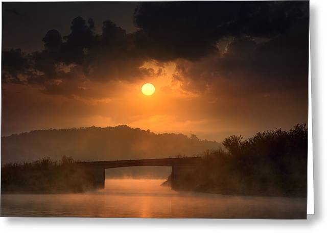 Mystical Landscape Greeting Cards - Mystery bridge Greeting Card by Radisa Zivkovic