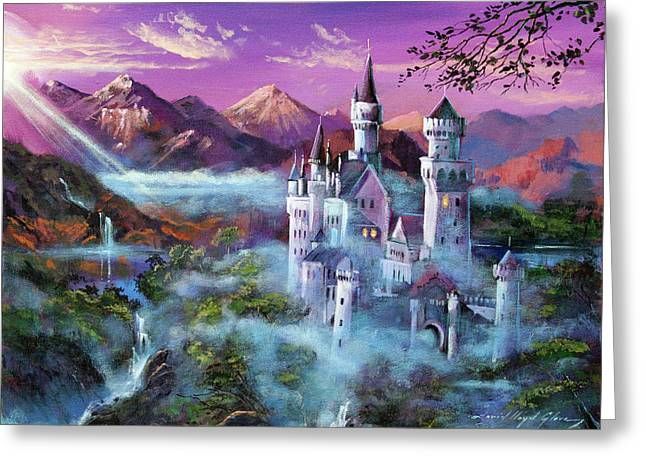 Most Greeting Cards - Mystery Castle Greeting Card by David Lloyd Glover