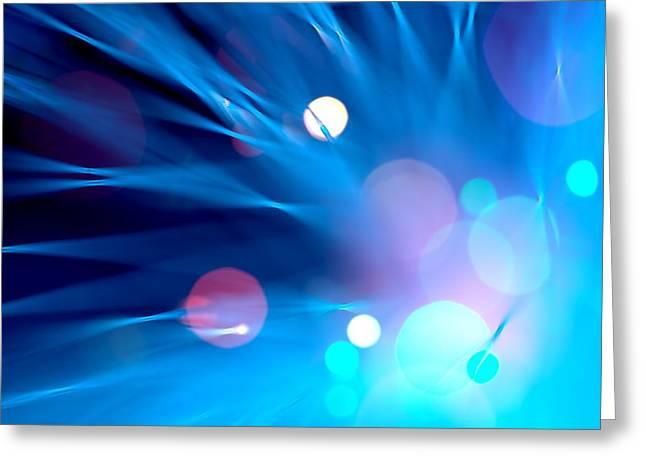 Dazzling Blue Greeting Cards - Mystery Greeting Card by Dazzle Zazz