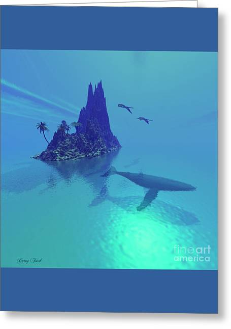 Mystery Island Greeting Card by Corey Ford