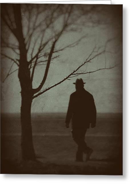 Mystery Man Greeting Card by Karol Livote