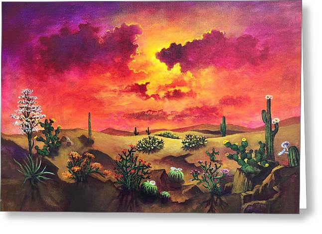 Randy Burns Greeting Cards - Mystery of the Desert Greeting Card by Randy Burns