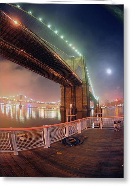 Mike Lindwasser Photography Greeting Cards - Mystic Brooklyn Greeting Card by Mike Lindwasser Photography