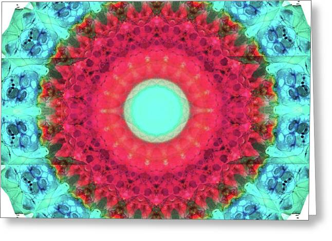 Mystic Circle Mandala - Sharon Cummings  Greeting Card by Sharon Cummings
