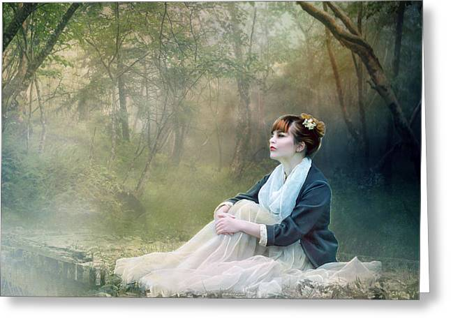Mystic Contemplation Greeting Card by Karen K