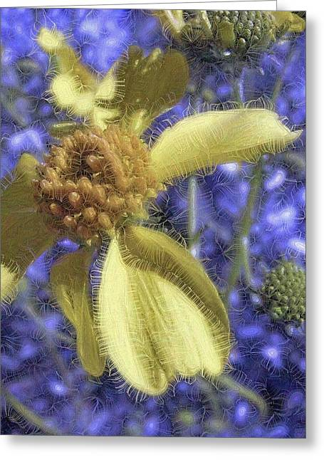 Mystic Art Greeting Cards - Mystic Daisy Greeting Card by Lisa S Baker
