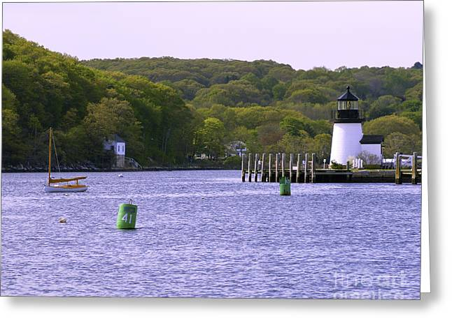 Sailboat Images Greeting Cards - Mystic Greenery Greeting Card by Joe Geraci