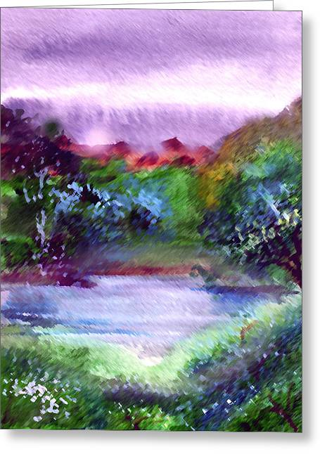 Mystic Lakes Greeting Cards - Mystic Lake Greeting Card by Anil Nene
