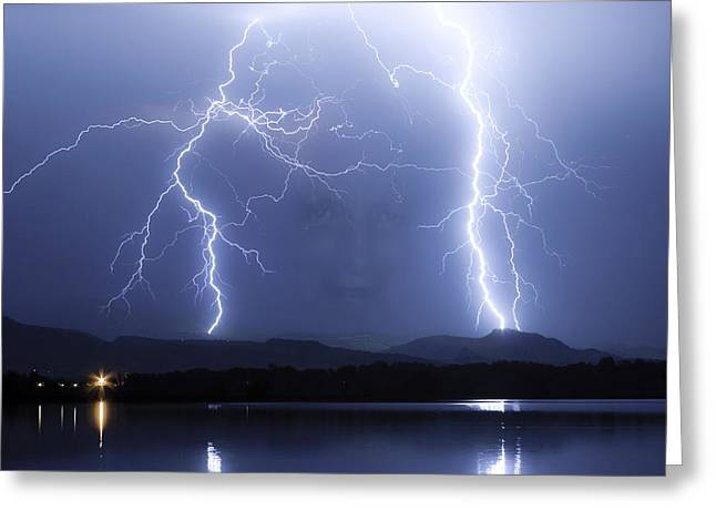Thunderstorm Greeting Cards - Mystic Lightning Storm Greeting Card by James BO  Insogna