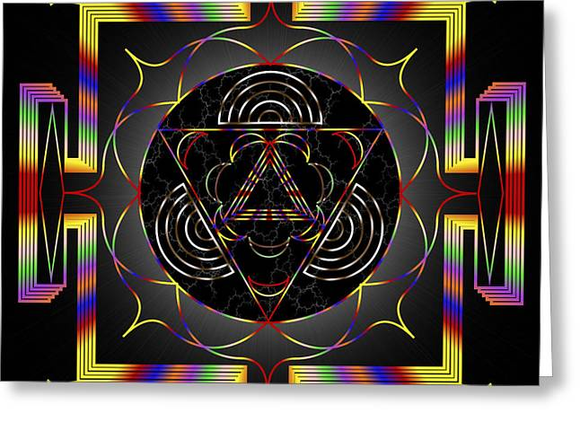 Abstract Forms Greeting Cards - Mystic Meanings Greeting Card by Mario Carini