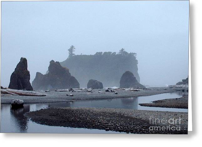 Ledge Photographs Greeting Cards - Mystic Morning Greeting Card by Julie Lueders