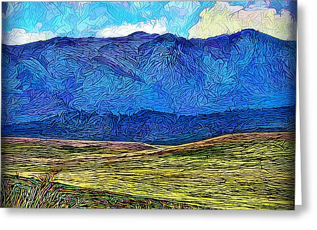 Mystic Art Greeting Cards - Mystic Mountain Ecstasy Greeting Card by Joel Bruce Wallach